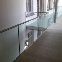 Balustrade met glas